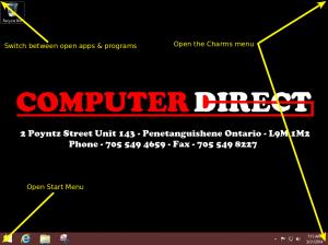 win8 Desktop Corners
